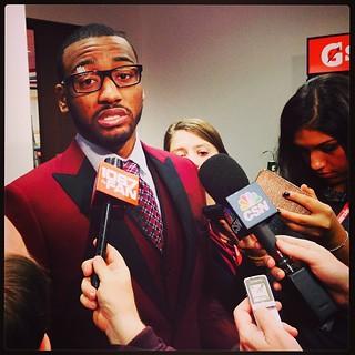 John Wall post-game suit game. #Wizards #Dandies #Vests