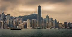 Hong Kong (Andy Aydt) Tags: ocean china city travel mountain water berg skyline skyscraper boot hongkong boat town wasser ship cloudy hill stadt      schiff  wolkenkratzer  hgel ozean    batmanisawesome