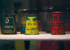 Beloved.. (areyarey) Tags: old summer italy food cooking metal retail vintage shopping tin healthy italia graphic symbol sauce eating antique traditional spice olive rusty icon can retro gourmet container nostalgia verona engraving vegetarian canned worn di oil packaging merchandise cans organic oliveoil grocery product scratched liquid oliva herb premium canning oldfashioned olio ingredient mediterraneanfood antipasto extravirgin retrodesign areyarey oilflask mediterraneandiet vision:text=0583 vision:clouds=0605 mediterraneanoil oilcanoil