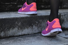 NIKE FREE 5.0 4 (Fashion and Lifestyle Blog) Tags: italy rome love fashion style happiness glam nikefree pinksneakers nikesneakers fashionblog italianblogger collegeshirt skirtandsneakers melissacabrini isabelmarantpourhm