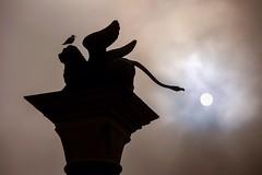 image (Manel Ocón Fernández) Tags: sol contraluz escultura venecia venezia