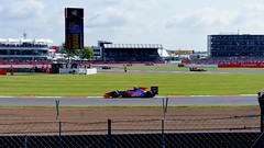 The moto GP2 race from Luffield corner