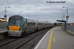 22037 passes Portarlington, 5/3/14 (hurricanemk1c) Tags: irish train rail railway trains railways irishrail rok rotem 2014 portarlington icr iarnród 22000 22037 éireann iarnródéireann premierclass 5pce 1420corkheuston