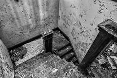 the downstairs spiral (Brian Rome Photography) Tags: abandoned photography buffalo nikon dirty photograph urbanexploration urbex sacredheaart