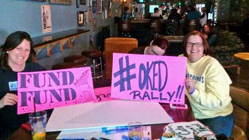 Signs for Oklahoma Education Rally by Wesley Fryer, on Flickr