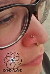 Double nostril piercings