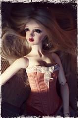 Loving her new corset... (Madrugadah) Tags: sun dusty french silk special blonde corset bjd lina tender monique babyblueeyes fulllips supia doublejointedbody aurikka