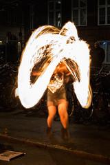 Dancing flames (paulius.malinovskis) Tags: sony dancing flames girl show fire copenhagen longexposure motionblur light kobenhavn denmark