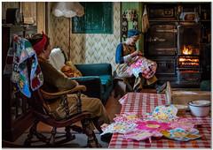 Land girls (Hugh Stanton) Tags: table chair fire land girls rocker stove appicoftheweek