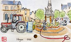 Le Tour de France virtuel - 60 - Oise (chando*) Tags: aquarelle watercolor croquis sketch france