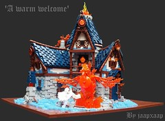 TT17 R5: 'A warm welcome' (jaapxaap) Tags: lego fire ice mage battle fantasy jaapxaap tourney contest medieval house