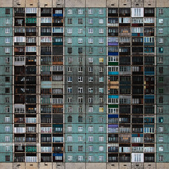 TYPVS ORDIS TERRARVM 14x18 (Different≠Same) Tags: architecture urban monotony grid pattern windows panels massproduction pale 1970s
