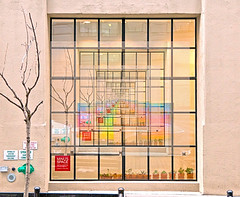New Insight (chantsign) Tags: feedback window yellow glass wall abstract tree flowerpots paintings squares rectangles