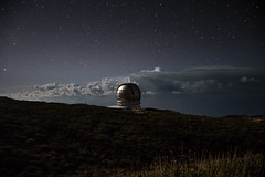 Gran Telescopio Canarias (free3yourmind) Tags: roquedelosmuchachos gran telescopio canarias lapalma canary islands spain telescope night nightsky sky stars clouds cloudy universe watch watching mountain
