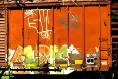 Train graffiti in Chickasha, Oklahoma (kevinellison62) Tags: graffiti streetart trains chickasha oklahoma