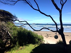 First view of Stephens Beach. South West Tasmania.