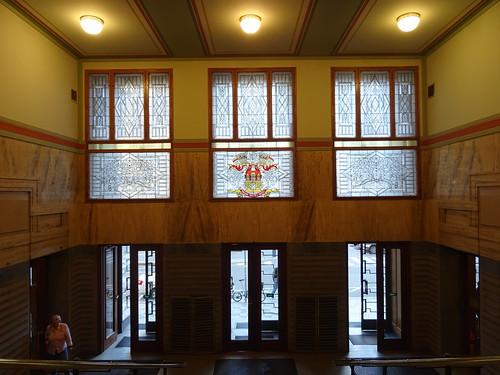 Praha, České republiky (the art of very historic buildings in the core of downtown Prague), Mariánské náměstí/Platnéřská (Městská knihovna v Praze/Stadtbibliothek/City Library)