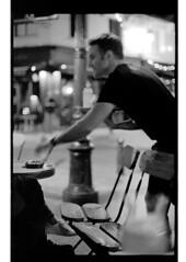 P44-2017-004 (lianefinch) Tags: argentic argentique monochrome blackandwhite blackwhite noirblanc noiretblanc bw people urbain urban brussels bruxelles belgium belgique belgïe bar bistro troquet