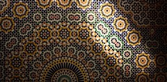 tiles under spotlight (diminoc) Tags: islamicgeometry tiles wall teluet morocco amazing architecture geometry detailed patterns ruin kasbah palace