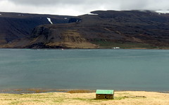 green roof (kexi) Tags: iceland europe water fjord ocean atlanticocean landscape view paysage green roof house solitary canon may 2016 patreksfjordur instantfave