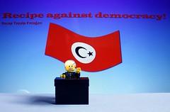Recipe against democrazy! (y20frank) Tags: lego erdogan humor politics dictator cabaret fun fuck goat fucker democrazy turky re