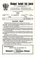 Blackpool vs Sunderland - 1964 - Page 2 (The Sky Strikers) Tags: blackpool football club sunderland league division one bloomfield road official programme 4d