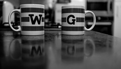 2017_116 (Chilanga Cement) Tags: fuji fujix100t fujix100f x100t xseries x100s x100f bw blackandwhite mug mugs reflection reflections reflecting kitchen wallaceandgromit drink coffee tea