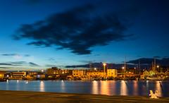 Blue hour (tom ballard2009) Tags: shoreham sussex harbour clouds longexposure water blue hour night