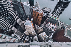Manhattan Financial District (svvvk) Tags: rooftop rooftopping roofs lookdown look down ue urbex urban exploration explore exploring architecture downtown manhattan fidi svvvk