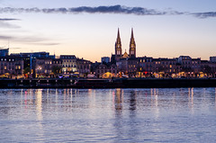 Bordeaux (Valentino Belloni) Tags: bordeaux france nikon sunset city cityscape water waterscape gironde garonne