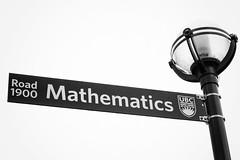 campus (annapolis_rose) Tags: vancouver ubc universityofbritishcolumbia campus sign mathematics bw