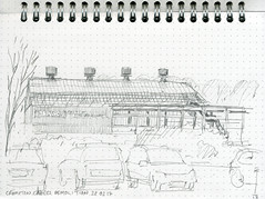 The Last of Derby Cables (MikeF_09) Tags: sketchbook urbansketchers derby demolition factory industry regeneration pencil