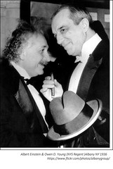 Albert Einstein (and Owen Young - NYS  Regent)   1936  Albany NY (albany group archive) Tags: albert einstein owen young nys regent 1936 albany ny 1930s old history historic vintage photos photograph historical