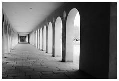 Schloss Favorite - Rastatt (DavidB1977) Tags: nikon d610 ais 35mm allemagne deutschland bw nb monochrome schlossfavorite badewurtemberg rastatt château orangerie arcades
