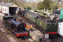 Swanage Locomotive Shed (David Blandford photography) Tags: 80146 80140 34092 30053 swanagerailway swanage dorset