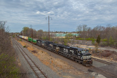 NS 24K @ Oxford Valley, PA (Darryl Rule's Photography) Tags: 2017 24k 520 april bridge buckscounty catenary clouds coal coaltrain dash9 diesel diesels emd freight freightcar freighttrain ge intermodal langhorne loaded morrisville morrisvilleline morrisvilleyard neshaminycreek ols operationlifesaver oxfordvalley pa prr pennsy pennsylvania pennsylvaniarailroad playwickipark rbmn railroad railroads readingnorthern sd70ace sd75 spring sun train trains trentoncutoff westlang yard