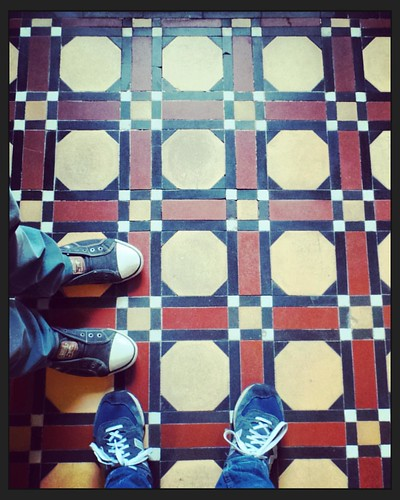 Bit of retro flooring with retro feet #flooring #feet