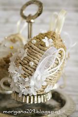 OvetteShabby_09w (Morgana209) Tags: ovetti uova decorazione shabby easter pasqua riciclo cartadapacco sacchettodelpane fiorellini perline fattoamano handmade diy creatività riciclocreativo recupero