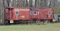 Hickory, North Carolina (Explore) (Bob McGilvray Jr.) Tags: hickory nc northcarolina caboose red steel baywindow southern sou railroad train tracks private display