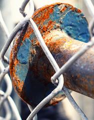 redox (ruchi613) Tags: macromondays orangeandblue ironoxide industrialart