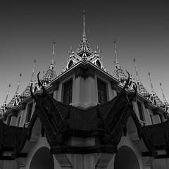 Loha Prasat (tapanuth) Tags: logaprasat wat temple buddhism thailand bangkok architecture historic thai tradition metalic details blackandwhite minimal minimalism minimalist monotone monochrome symmetric landmark ratchadamnern royal monastery religious faith rattanakosin kingrama3 chakri religion buddhist
