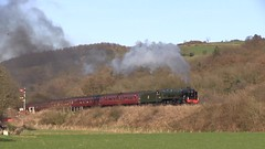 LMS No.46100 'Royal Scot' southbound at Esk Valley [NYMR] on 25th March 2017 (soberhill) Tags: northyorkshiremoorsrailway nymr lms 46100 royalscot grosmont pickering railway steam train locomotive eskvalley 2017