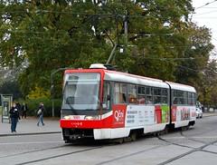 Brno, Moravské náměstí 21.10.2016 (The STB) Tags: brno tram tramway strassenbahn strasenbahn tranvía tramvaj tramvaje tramvajovádopravavbrně tatra tatrawagen čkd českomoravskákolbendaněk
