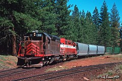 Home, James (C.P. Kirkie) Tags: mccloudriverrailroad lookoutjob lookout burlingtonnorthern bn sd38 mr freighttrain forest northeasterncalifornia interchange railroads trains emd modoccounty california shortlinerailroad shastacascadewonderland
