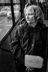 (Alex Cruceru) Tags: 2016 bw blackwhite bucharest bus candid city finepix fujifilm mirrorless moments mono monochrome romania story stradal street streetphotography streettogs urban window woman x100s xseries