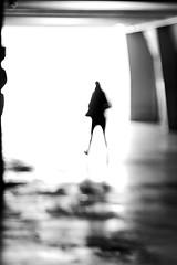 The woman in a hurry (pascalcolin1) Tags: paris13 femme woman pressée hurry lumière light photoderue streetview urbanarte noiretblanc blackandwhite photopascalcolin