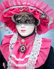 Beatrice Camus (Barbara Summers) Tags: beatrice camus eyes pink black mask hat
