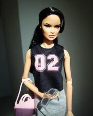 Vanessa 02 (Deejay Bafaroy) Tags: fashion royalty integrity toys fr fr2 doll puppe barbie explorer vanessa perrin portrait porträt sunglasses sonnenbrille pink rosa black schwarz gray grey grau