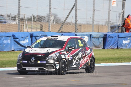Myles Collins in the Clio Cup qualifying during the BTCC Weekend at Donington Park 2017: Saturday, 15th April
