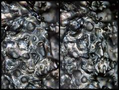 31march17O (peterobrien186) Tags: 3d stereo crosseye snow melt ice crystal birefringence crossedpolarized winter macro nature